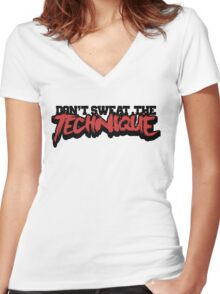 Don't Sweat The Technique Women's Fitted V-Neck T-Shirt