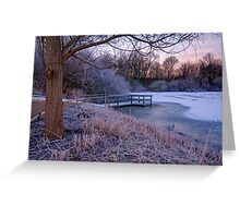 Cold Morning in the Park Greeting Card