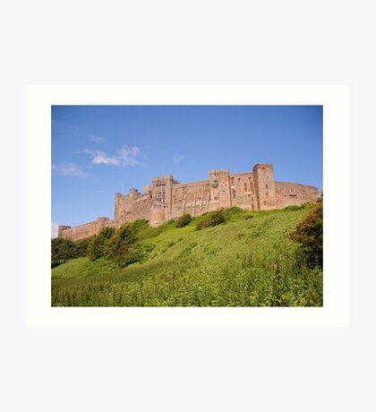 Bamburgh Castle, Northumberland. Art Print