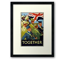 WWII Recruitment Poster Framed Print