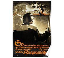 German WWI Propaganda Poster Poster