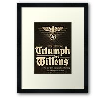 Triumph - German WW2 Film Poster Framed Print