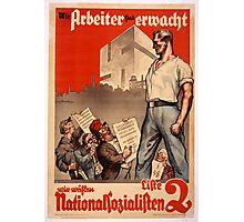 German Propaganda Poster Photographic Print