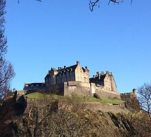 Edinburgh Castle from Princes Street.  by LBMcNicoll