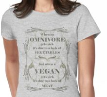 When a Vegan Gets Sick Womens Fitted T-Shirt