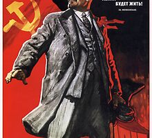 Old Soviet Lenin Poster by Chris L Smith