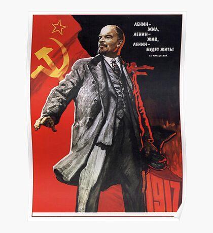 Old Soviet Lenin Poster Poster
