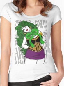 BBW Clown in Corset Women's Fitted Scoop T-Shirt