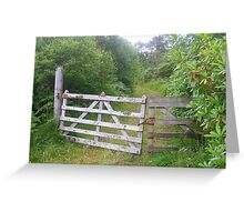 Forestry track gates Greeting Card