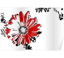 Gerbera - Black White And Red Series Poster