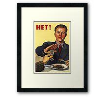 Old Soviet Poster Framed Print