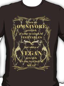 When a Vegan Gets Sick - Dark Ts T-Shirt