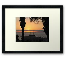 Sunsetting on the Tall Ship Framed Print