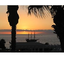 Sunsetting on the Tall Ship Photographic Print