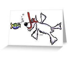 White Schnauzer Snorkel Buddy Greeting Card