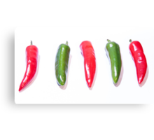 Red Hot Chillies Canvas Print