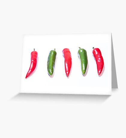 Red Hot Chillies Greeting Card