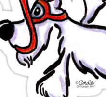 White Schnauzer Snorkel Buddy Sticker