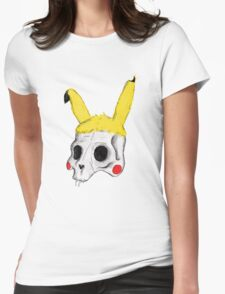 The Skull of Pikachu Womens Fitted T-Shirt