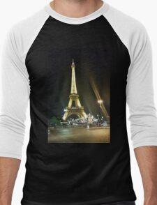 France, Paris, Eiffel tower, Men's Baseball ¾ T-Shirt