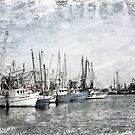 Shrimp Boats Sketch Photo by Jonicool