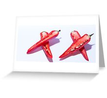 Sliced Red Hot Chillies Greeting Card