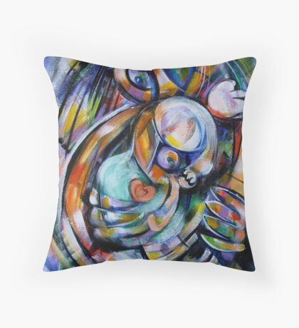 Safe in Her Mother's Womb Throw Pillow
