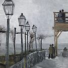 errace and Observation deck at the Moulin de Blute-Fin, Montmartre by Bridgeman Art Library