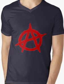 Anarchy Shirt Mens V-Neck T-Shirt