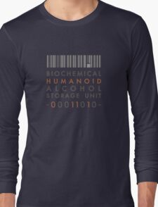 Biochemical Humanoid Alcohol Storage Unit - for dark shirts Long Sleeve T-Shirt