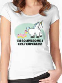 I'm So Awesome I Crap Cupcakes Women's Fitted Scoop T-Shirt