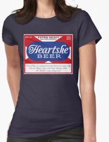 Heartshe Beer Womens Fitted T-Shirt