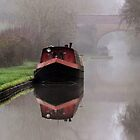 Mystical Barge on the Canal by Avril Harris