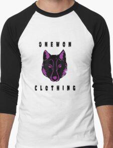 Wolf logo on white Men's Baseball ¾ T-Shirt