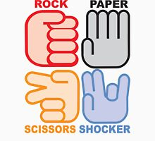 Rock Paper Scissors Shocker Unisex T-Shirt