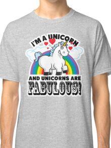 Fabulous Unicorn Classic T-Shirt