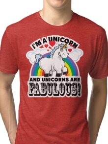 Fabulous Unicorn Tri-blend T-Shirt