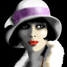 Girl&#x27;s Twenties Vintage Glamour Portrait by BluedarkArt