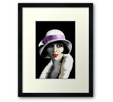 Girl's Twenties Vintage Glamour Portrait Framed Print