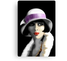 Girl's Twenties Vintage Glamour Portrait Canvas Print