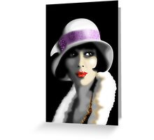Girl's Twenties Vintage Glamour Portrait Greeting Card