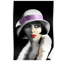 Girl's Twenties Vintage Glamour Portrait Poster