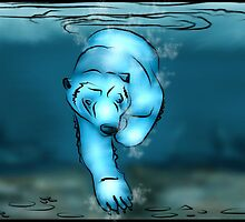 Underwater Polar Bear by Ryan Anderson