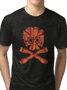 Bacon Skull and Crossbones Tri-blend T-Shirt