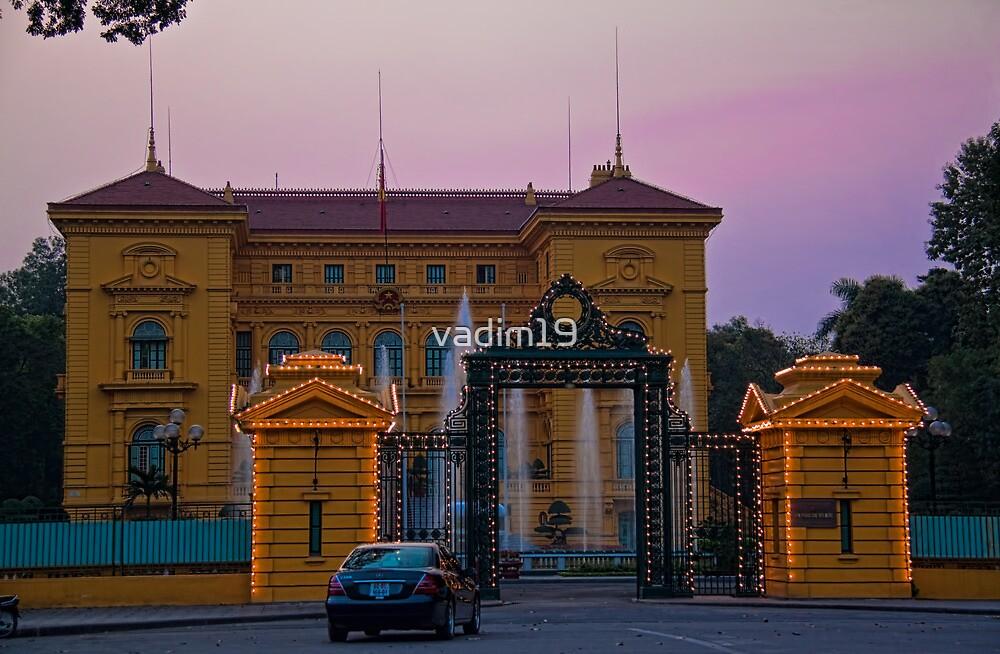 Vietnam. Hanoi. Presidential Palace at sunset. by vadim19