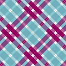 Blue and Pink Plaid by ChunkyDesign
