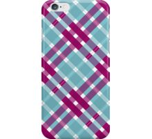 Blue and Pink Plaid iPhone Case/Skin