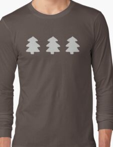 Silver Christmas Trees Pattern Long Sleeve T-Shirt