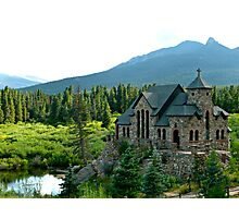 Rustic Stone Church Photographic Print