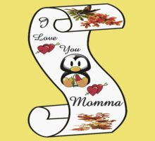 I Love You Momma,,card,tee, iphone, ipad Kids Clothes
